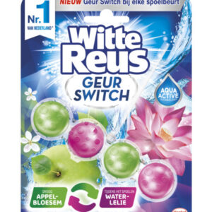 Witte Reus Geur Switch Appelbloesem / Waterlelie Toiletblok (50g) (5410091753054)