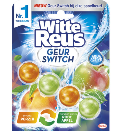 Witte Reus Geur Switch Perzik / Rode Appel Toiletblok (50g) (5410091745684)
