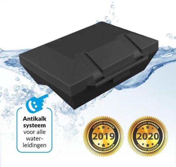 AlpinPro® Antikalksysteem Black Edition Uni-Pro - Voorkomt Kalkaanslag - Anti Kalk - Geschikt voor 10 t/m 42 mm leidingen (8720299235649)